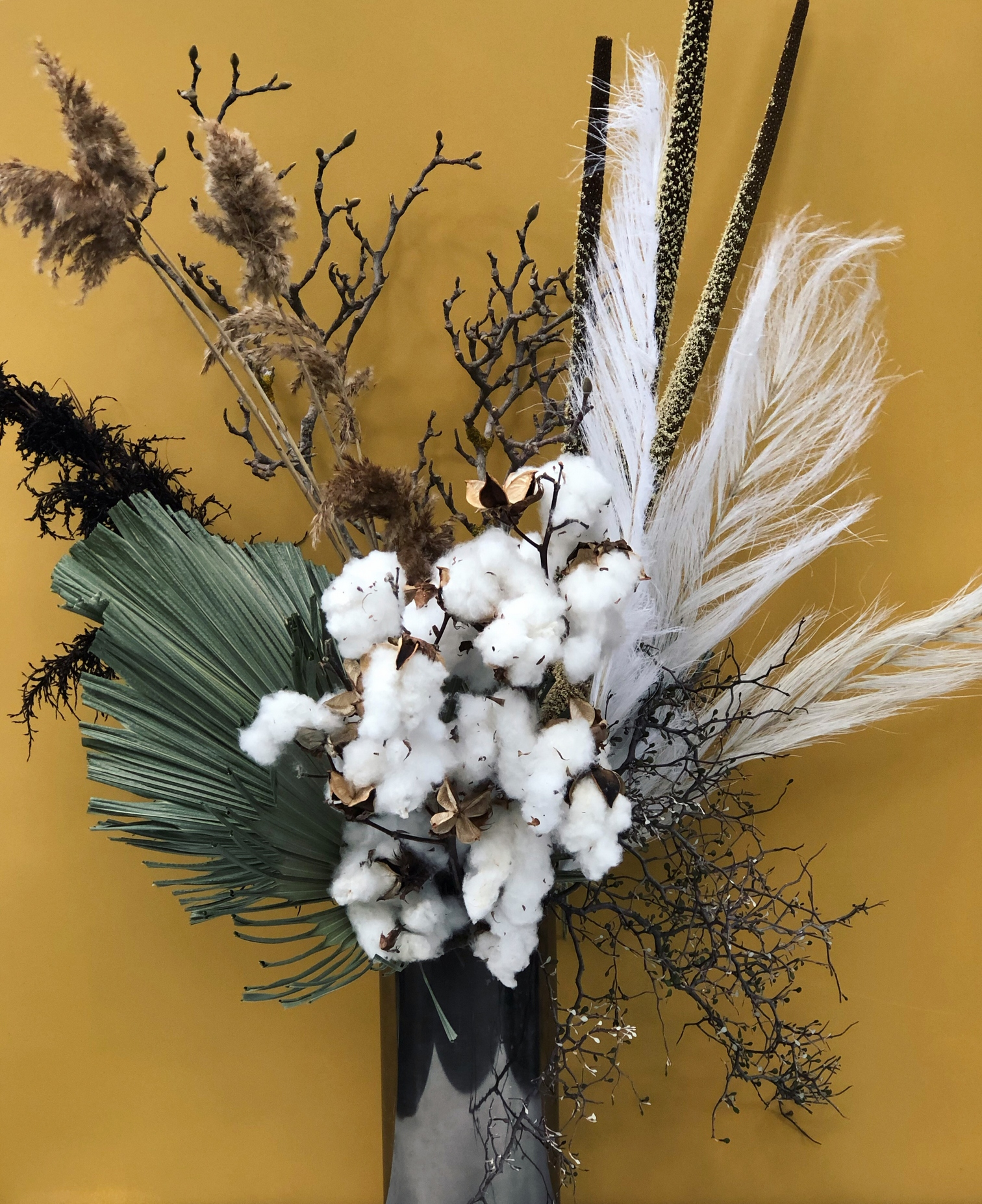 Dried Dreamy White House Flowers
